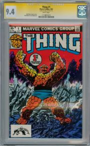 The Thing #1 CGC 9.4 Signature Series Signed Stan Lee Fantastic Four Marvel comic book